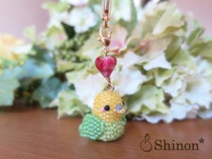 HappyBirdストラップ(イエロー&グリーン)