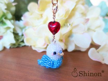 HappyBirdストラップ(ホワイト&ブルー)