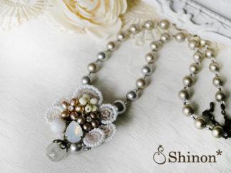 Shinon* ブーケフラワーブローチ&ネックレス