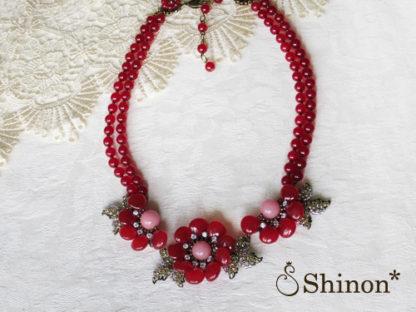 Shinon* 牡丹のネックレス