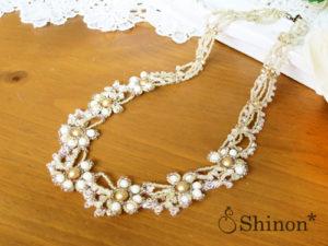 Shinon* クラシックフラワーネックレス