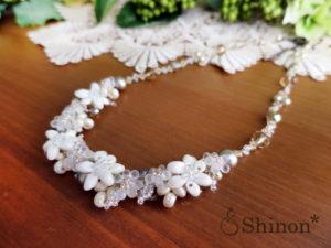 Shinon* エーデルワイスのネックレス