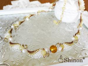 Shinon* ホワイトエンジェルネックレス