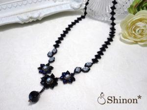 Shinon* モダンフラワーネックレス