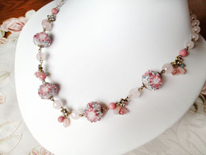 Shinon* あわいしのぶ Romantic Rose Necklace