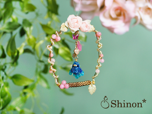 Shinon* 新作『鳥かごのローズリース(青い小鳥)』